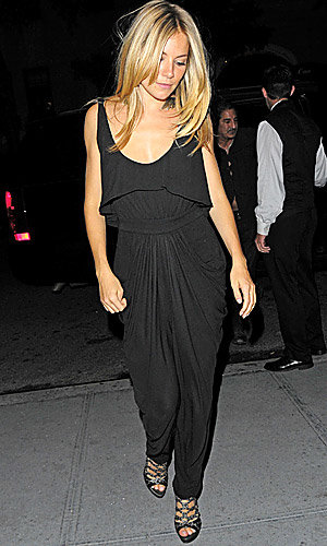 STAR TREND ALERT! Sienna Miller leads the jumpsuit pack on a night out in NY
