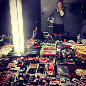 Mollie King reveals behind the scenes picture from LA shoot