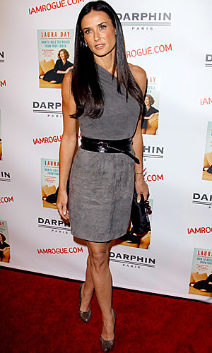 Demi Moore WOWS in Jimmy Choo for H&M