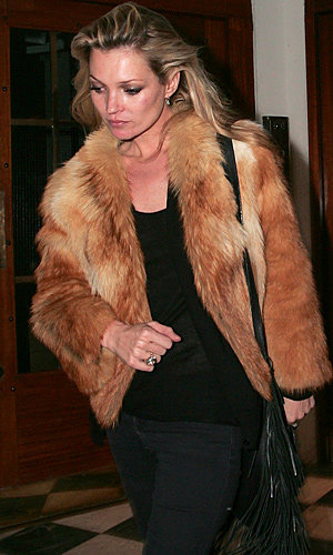 Get the look: Kate Moss's new fur coat