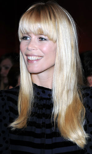 Claudia Schiffer gets a fringe makeover