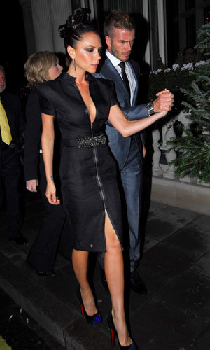 Posh and Becks hit London for star-studded dinner with friends