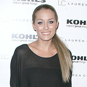 Lauren Conrad celebrates her clothing line with a slicked-back ponytail and heavy eyeliner