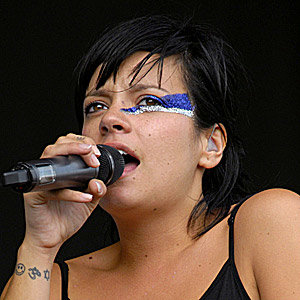 Lily Allen makes glitter cool again