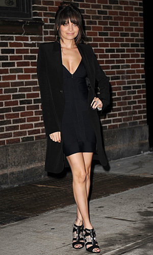 Nicole Richie shows off perfect LBD - and announces engagement - on David Letterman