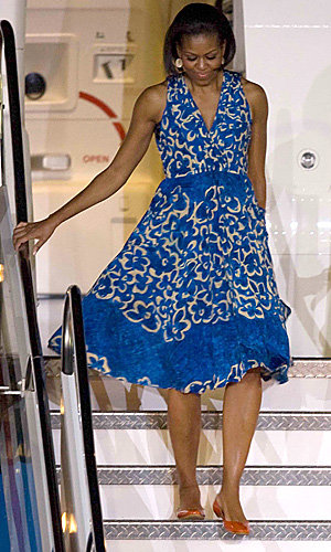 Michelle Obama works the floral trend