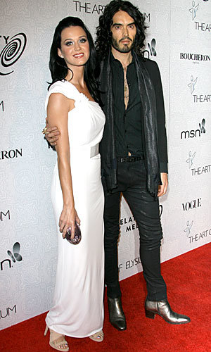 Katy Perry and Russell Brand wow at Art of Elysium bash