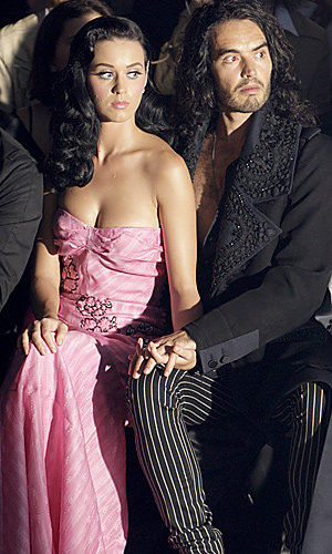 Katy Perry and Russell Brand hit the front row at Paris Fashion Week