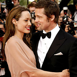 Brad and Angelina are loved up in Cannes