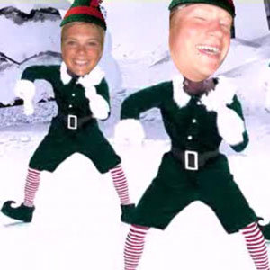 Prince Harry and Chelsy Davy dress up as elves in Xmas eCard!