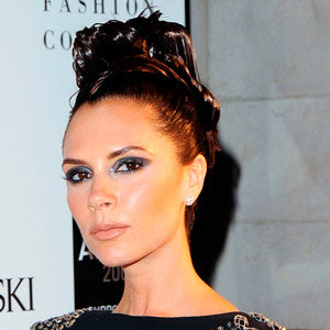 Victoria Beckham wears bright blue nail polish to see The Jersey Boys with David, Brooklyn, Cruz and Romeo