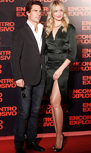 Cameron Diaz and Tom Cruise dazzle at Brazil Knight & Day premiere