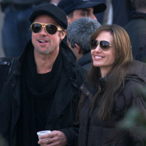 Brangelina buddy up on the set of Angelina's directorial debut
