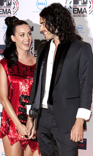 Newlyweds Russell Brand and Katy Perry hit MTV Europe Video Awards