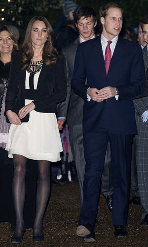 Prince William and Kate Middleton step out for charity Christmas event