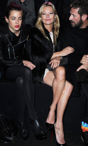 Kate Moss and friends make for a model crowd at lingerie show in Paris
