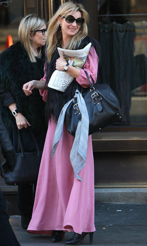 Kate Moss does 70s chic for a stylish lunch in London