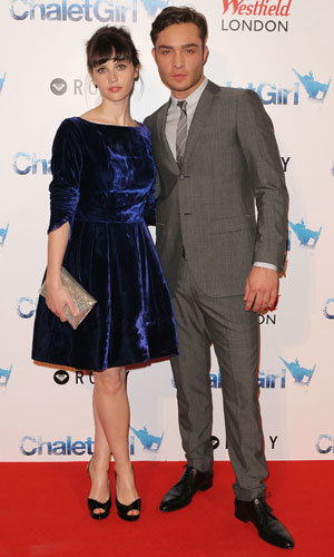 Chalet Girl stars Ed Westwick and Felicity Jones hit world premiere