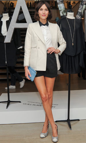 Alexa Chung works monochrome chic at Carven SS11 collection launch at Barney's New York