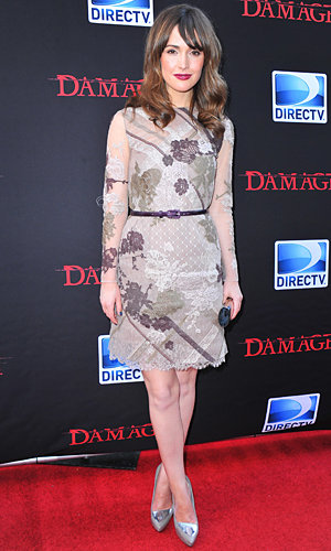 Rose Byrne does autumn chic at Damages premiere