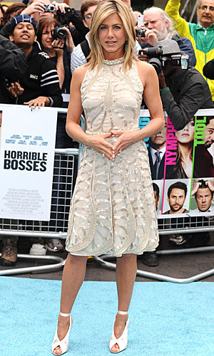 Jennifer Aniston styles it up in London for Horrible Bosses premiere - in Valentino and Celine!