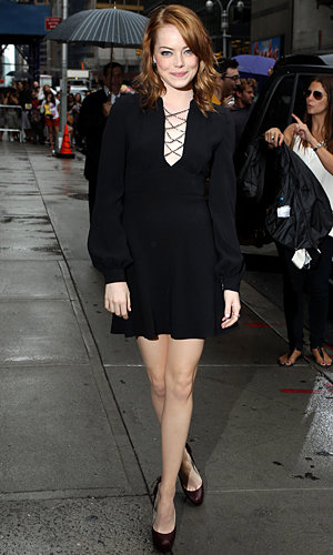 Emma Stone wows in LBD on Letterman show
