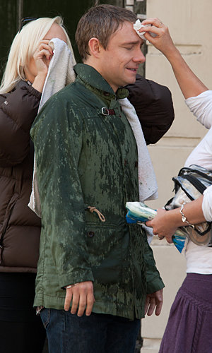 SPOTTED: Martin Freeman and cast of Sherlock filming in London!