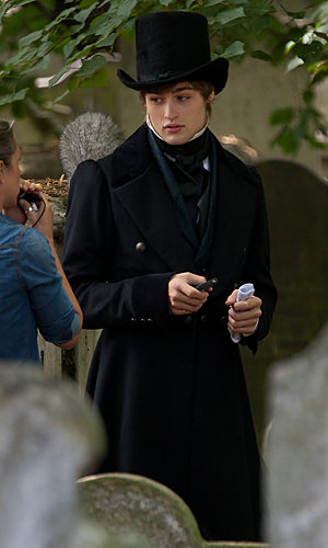 SPOTTED: Douglas Booth on Great Expectations set!
