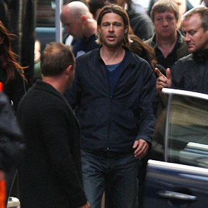SPOTTED: Brad Pitt on set of new movie World War Z