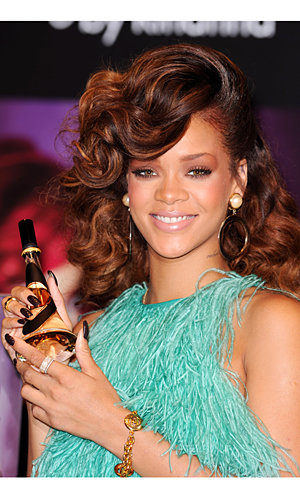 Rihanna wows in Antonio Berardi at the launch of her new fragrance Reb'l Fleur in London