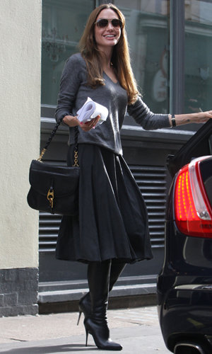 SPOTTED: Angelina Jolie works the midi trend in London!