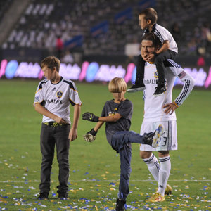 Victoria Beckham brings baby Harper and family to watch David in LA Galaxy game