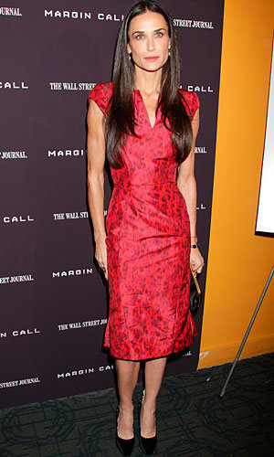 Gossip Girl's Penn Badgley and Chace Crawford join Demi Moore at Margin Call premiere