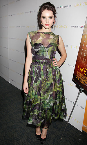 ONE TO WATCH: Felicity Jones works perfect prints at Like Crazy premiere in NYC