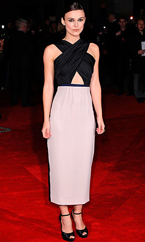 Keira Knightley plays peek-a-boo at A Dangerous Method premiere