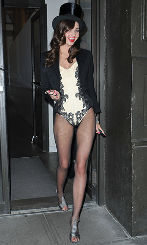 SPOTTED: Miranda Kerr goes sizzling ringmaster for Halloween!