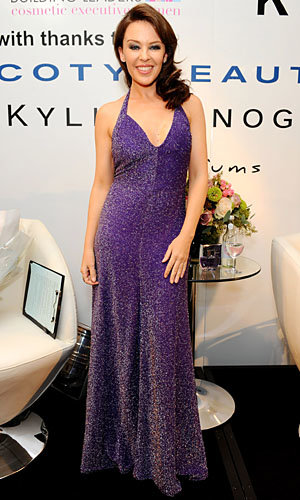 Kylie Minogue gets glitzed up to launch Dazzling Darling fragrance