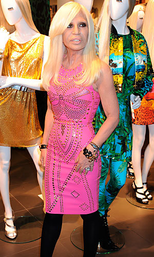 Donatella Versace hits Regent Street for Versace for H&M launch