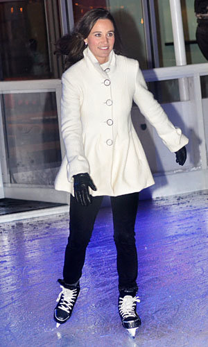 Pippa Middleton gets her skates on with Tiffany and Co