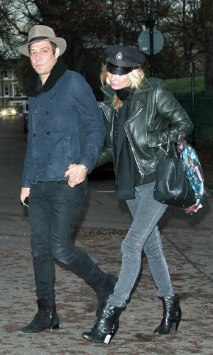 Cool couple Kate Moss and Jamie Hince work hats