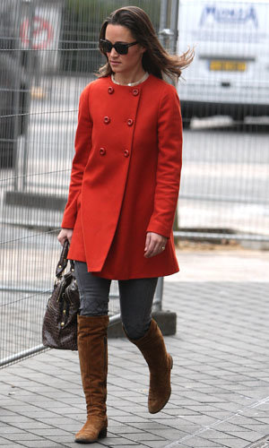 Pippa Middleton works brown boots two days on the trot!