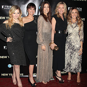 The New Year's Eve girls go glam for New York premiere