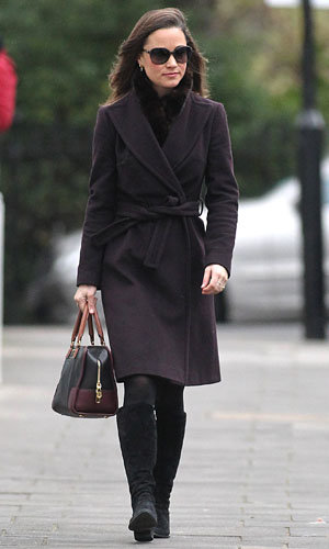 Pippa Middleton works winter chic