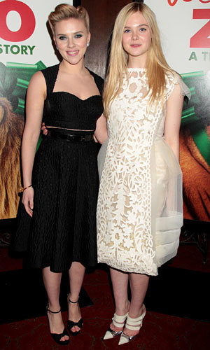 Elle Fanning and Scarlett Johansson pair up at We Bought A Zoo premiere
