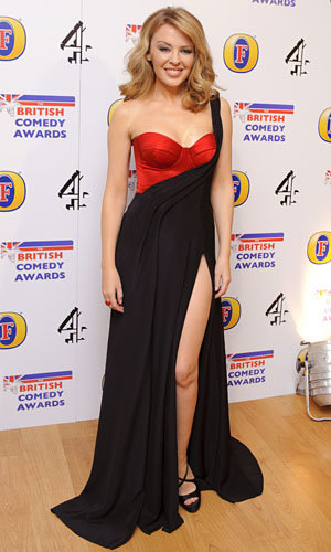 Kylie Minogue spices up the British Comedy Awards