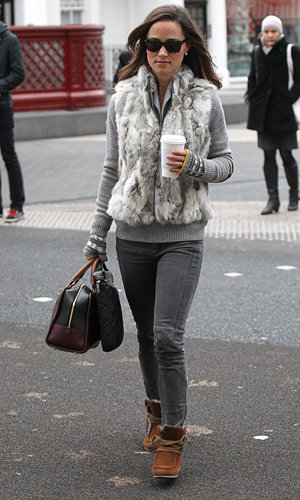 SEE PICS: Pippa Middleton goes cosy in London!