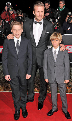 The Beckham boys get suited and booted for A Night of Heroes
