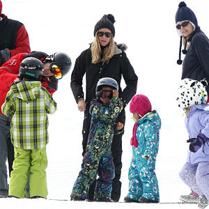 Heidi Klum and Kate Hudson take the kids skiing in Aspen