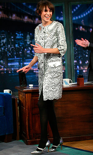 Alexa Chung works Marc Jacobs on Late Night