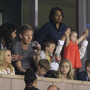 Victoria Beckham and family support David at LA Galaxy match!
